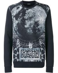 Balmain - Cotton Printed Jumper - Lyst