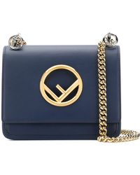 Fendi - Kan I Small Handbag With Logo - Lyst