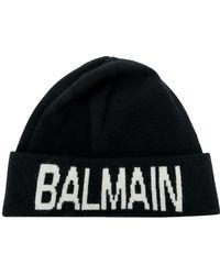 Balmain - Logo Beanie - Lyst