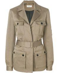 Saint Laurent - Linen And Cotton Jacket - Lyst