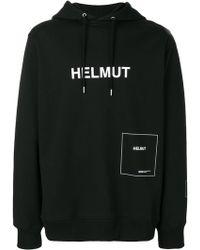 Helmut Lang - Logo Printed Hoodie - Lyst