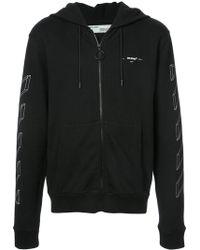 Off-White c/o Virgil Abloh - 3d Diagonal Lines Hooded Sweatshirt - Lyst