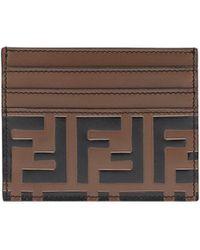 Fendi - Leather Businnes Card With Print - Lyst