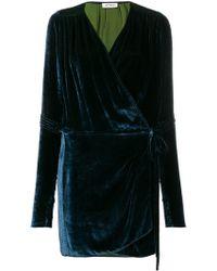 Attico - Velvet Wrapped Mini Vest - Lyst