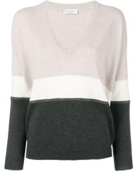 Brunello Cucinelli - Cashmere V Neck Sweater - Lyst