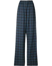 Balenciaga - Oversize Tartan Trousers - Lyst