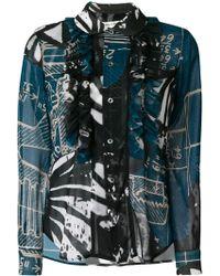 Comme des Garçons - Printed Georgette Shirt - Lyst