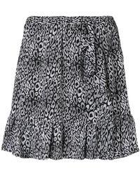 MICHAEL Michael Kors - Leopard Printed Skirt - Lyst