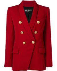 Balmain - Wool Oversized Blazer - Lyst