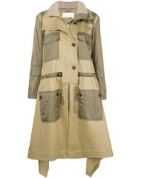 Chloé - Trench With Black Contrasting Details - Lyst