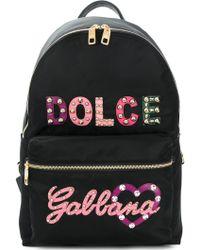 Dolce & Gabbana - Nylon Backpack Con Logo - Lyst