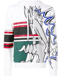 Iceberg - Tom Print Cotton Hooded Sweatshirt - Lyst