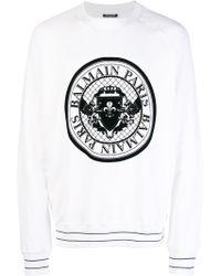 Balmain - Cotton Printed Sweater - Lyst
