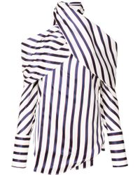 Monse - Striped Top - Lyst