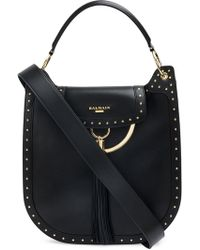 Balmain - Domaine Leather Shoulder Bag - Lyst