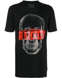 Philipp Plein - Printed Cotton T-shirt - Lyst