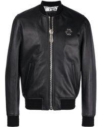 Philipp Plein - Someone Leather Jacket - Lyst