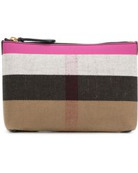 Burberry - Duncan Large Leather Pouch - Lyst