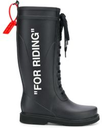 """Off-White c/o Virgil Abloh - """"40mm """"""""for Riding"""""""" Rubber Rain Boots"""" - Lyst"""