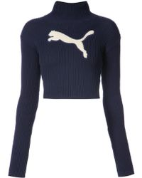 PUMA - Turtle Neck Sweatshirt - Lyst