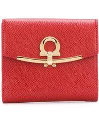 Ferragamo - Gancino Clip Leather Wallet - Lyst