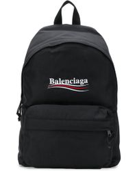 Balenciaga - Logo Printed Backpack - Lyst