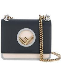 Fendi - Kan I Small Bicolor Handbag - Lyst