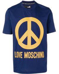 Love Moschino - T-shirt con simbolo della pace - Lyst