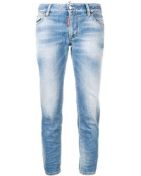 DSquared² - Cropped Denim Jeans - Lyst