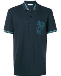 Versace - Logo Cotton Polo - Lyst
