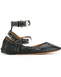 Givenchy - Studded Leather Ballet Flat - Lyst