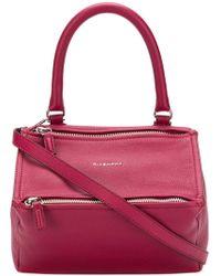 d8b8e8b6e36d Lyst - Givenchy Pandora Box Chain Patent Leather Shoulder Bag in Black