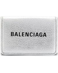 a5390524039b Balenciaga - Everyday Mini Leather Wallet - Lyst