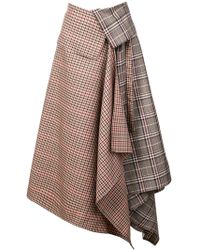 Monse - Asymmetric Long Skirt - Lyst