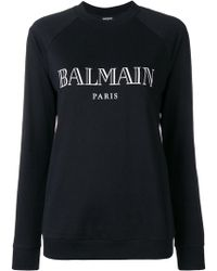 Balmain - Logo Cotton Sweatshirt - Lyst