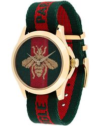 Gucci - Watch With Bee Clock Face - Lyst