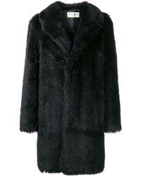 Saint Laurent - Faux Fur Coat - Lyst