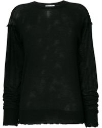 Helmut Lang - Longlseeve Fray Sweater - Lyst