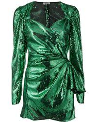 Attico - Sequins Mini Dress - Lyst