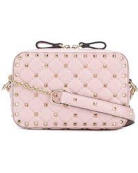 Valentino - Rokcstud Spike Leather Shoulder Bag - Lyst