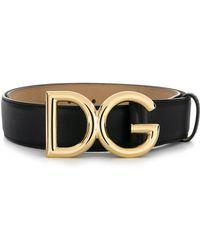Dolce & Gabbana - Leather Belt - Lyst