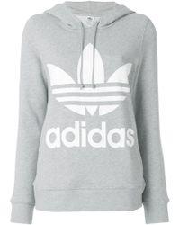 adidas - Logo Hooded Sweatshirt - Lyst