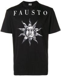 Fausto Puglisi - Logo Print Cotton T-shirt - Lyst