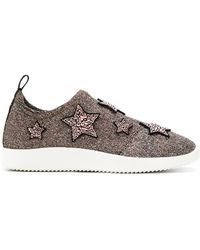 Giuseppe Zanotti - Sneakers With Embroidered Stars - Lyst