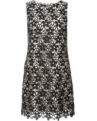 Alice + Olivia - Embroidered Floral Dress - Lyst