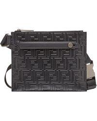 Fendi - Leather Messenger - Lyst