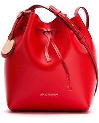 Emporio Armani - Bucket Bag With Logo Charm - Lyst
