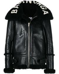 Balenciaga - Le Bombardier Shearling Coat - Lyst