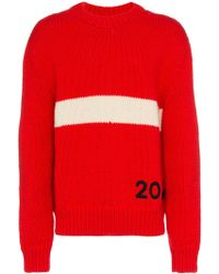 CALVIN KLEIN 205W39NYC - Wool Logo Crewneck Sweater - Lyst