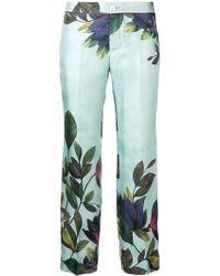 F.R.S For Restless Sleepers - Floral Cropped Trousers - Lyst
